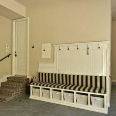 Mud room idea for the garage