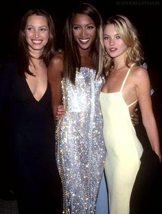 Christy Turlington, Naomi Campbell & Kate Moss
