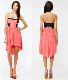 LOVING this dress!! :D #dress #style #Fashion #highlow #coral #summer #photography #pretty #dresses