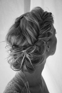 messy braided up-do