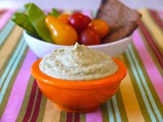 White Bean Basil Hummus (Makes 1 1/2 Cups)   1 Can Cannelini or Northern White Beans, rinsed and drained 1 Cup Fresh Basil 1 Small Garlic Clove Juice of 1 Lemon 2 Tbsp Tahini 1/2 Tsp Salt 1/4 Cup Olive Oil
