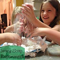 Simple Science: Microwave Bars of Soap for {Almost} Explosive Fun!
