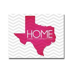 Texas HOME Poster - 8x10 Digital Art Printable (.JPG 300dpi to Print On Your Own) - You Choose the COLOR. $9.00, via Etsy.