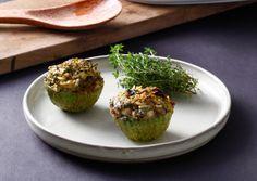תיק אוכל: קישואים ממולאים עם רוטב לימון ונענע