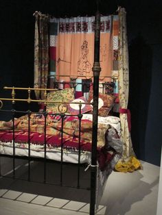 Bohemian bedroom with quilts