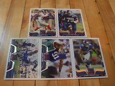 2013 Topps NEW YORK GIANTS (5) Card Lot Justin Tuck David Wilson Andre Brown NFL