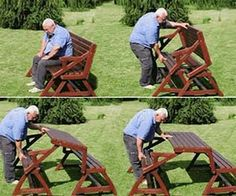 Transforming Picnic Table Bench