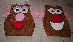Mr and Mrs Potato Head!  Cute for an artistic routine too, huh Dar?!
