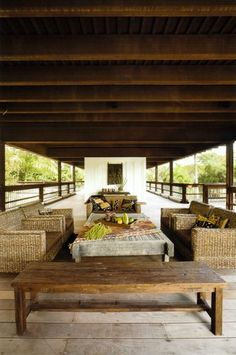 Strang Residence (Rock House) - tropical - porch - miami - by Max Strang Architecture