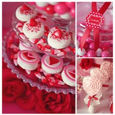 Lots of Valentine party and sweet table ideas.