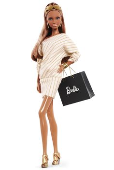 shopper barbi, citi shopper, barbi girl, barbi doll, barbie, fashion doll, barbi collector, africanamerican doll, barbi fashion