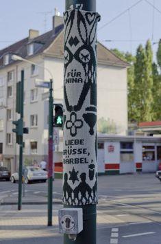 Knitting as local communication in Essen, Germany. #yarnbomb #knit #knitting #knithacker #germany