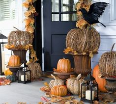 Decorative Pumpkins with Lights | Pottery Barn