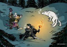 Jon Snow slaying the wight!