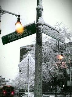 A Snowy Boston Commute #bostonusa 1.16.13 the first snowfall of 2013!