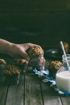 Triple walnut muffins