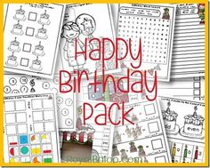 Download these free Birthday Pack Printables.