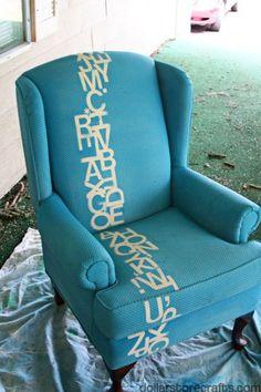 typography, fabric spray paint