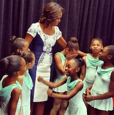 First Lady Michelle Obama.  Inspiring.