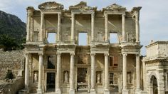 The library in the ancient city of Ephesus in the western Turkish coastal city of Izmir. librari, place
