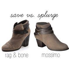 Save vs. Splurge by theredheadfashionista, via Polyvore