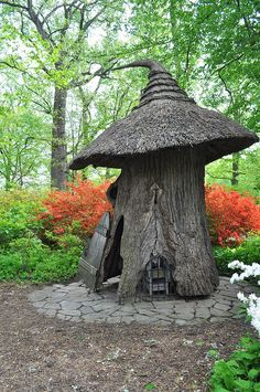 The Fairy's next door neighbor... the Gnome! / Winterthur's Enchanted Woods, Delaware, USA / by downthestretch53, via Flickr