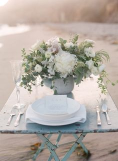 beach, wedding centerpieces, flower