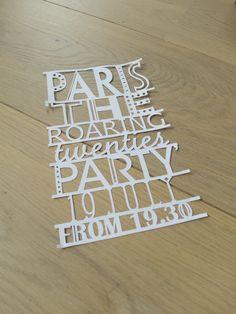 """Paris """"The roaring twenties"""" Party Invitation"""