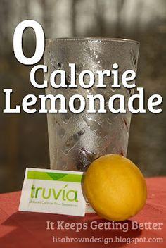 I Want to try the Truvia   0 Calorie Lemonade Recipe :)