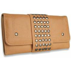Peňaženka kožená vybíjaná Pracka, hnedá 12507 - VašeKabelky.sk