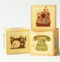 Vintage Love Wooden Blocks