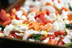 Stacked Roasted Vegetable Enchiladas by Perry's Plate, via Flickr