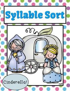 Syllable Sort Cinderella Center Game for Common Core $0 By www.FernSmithsClassroomIdeas.com