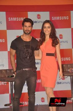 Shahid and Shraddha promotes Haider with Samsung