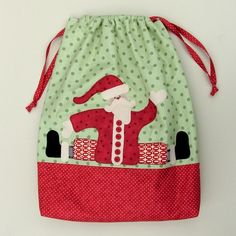 Santa Sack - Paper Pattern + Applique With Jan Patek- Inside Curves, Berries, & Holly Leaves