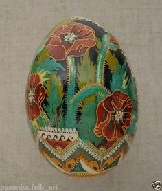 Ukrainian Pysanka by Ira. / Goose egg shell / Pysanky