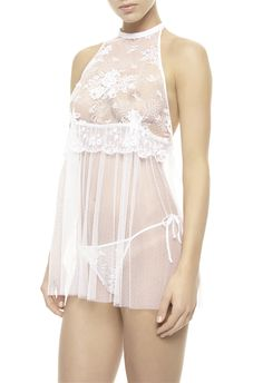 La Perla Maharani Babydoll w/ Brief. Gorgeous lace. I've seen this tulle in person as well and it's whisper soft.