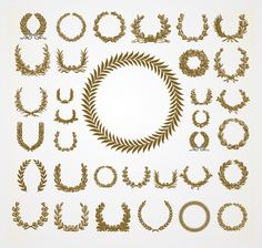 free laurels, laurel wreath, free vector, leav vector, vector set, oliv leav, design idea, wreaths, olives