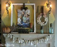 A TEXAS Fall Mantle   The Rustic PigThe Rustic Pig