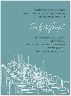 invites jordan-courtney-s-rehearsal-dinner-ideas