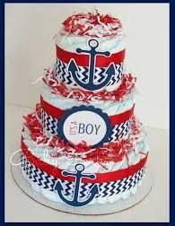 Nautical Diaper Cake