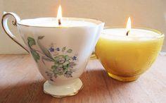 DIY: tea cup candles