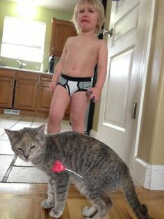 Haha this is so funny! #funnycats #funnypics #kids