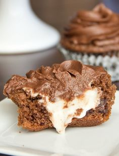 Dark Chocolate Mint Cupcakes