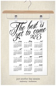 2013 Calendar Poster Wall Calendar by JustAnotherDay on Etsy, $22.00