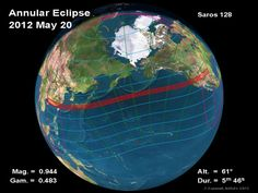 Where To See The Solar Eclipse On May 20th 2012
