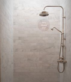 marble brick tile shower