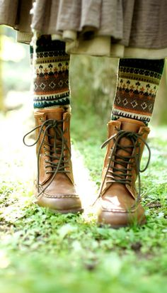 Stockings and boots to wear for Fall.