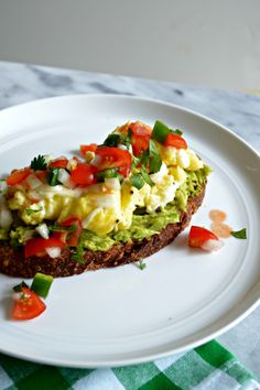 pico de gallo, scrambl egg, avocado toast, cheesi scrambl