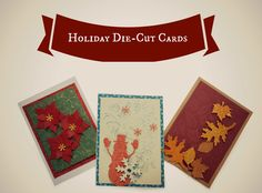 DIY holiday cards made with die cuts